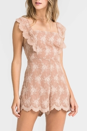 Lush Eyelet Lace Romper - Front cropped