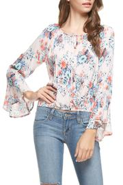 Lush Floral Bell Sleeve Top - Product Mini Image
