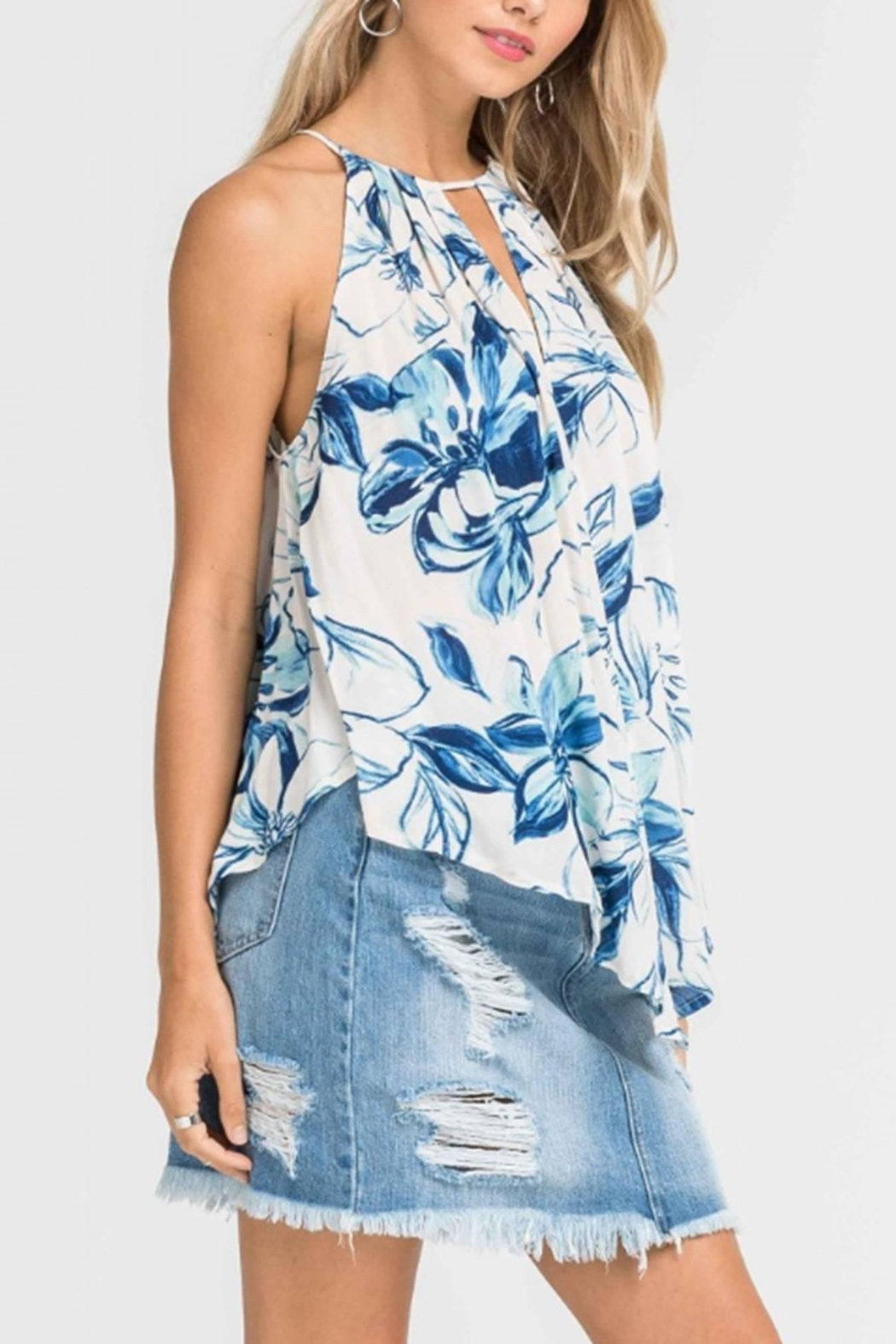 Lush Floral Cami Top - Front Cropped Image