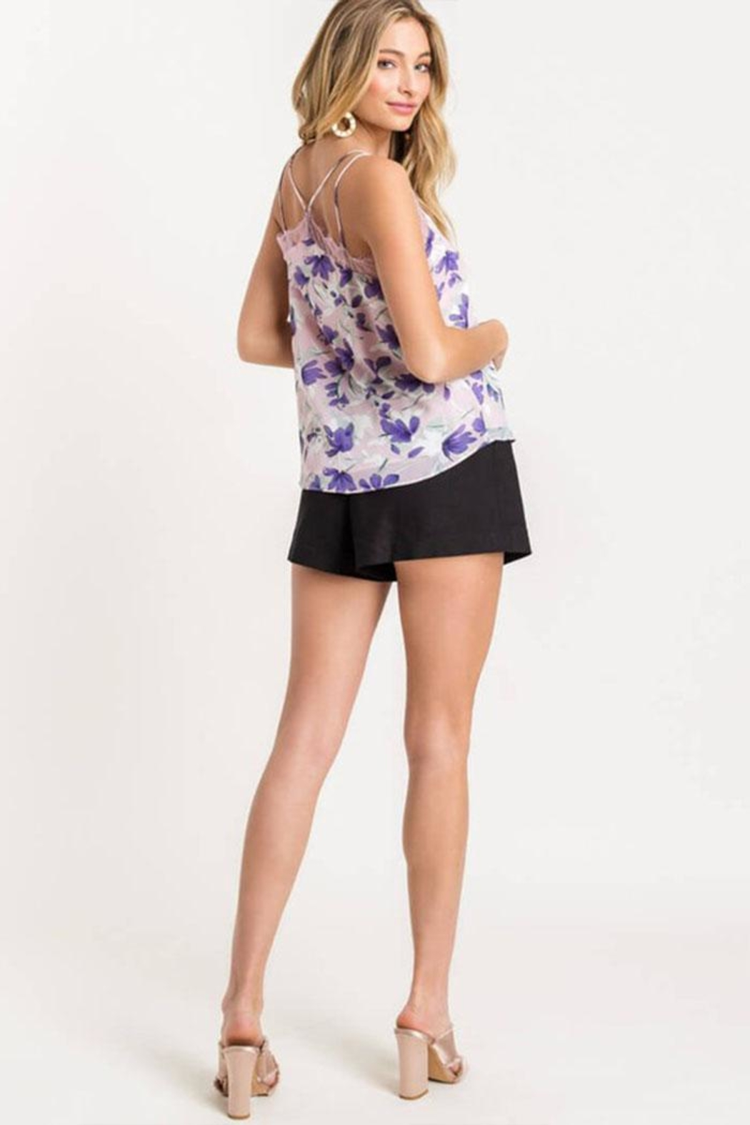 Lush Floral Lace Cami - Side Cropped Image