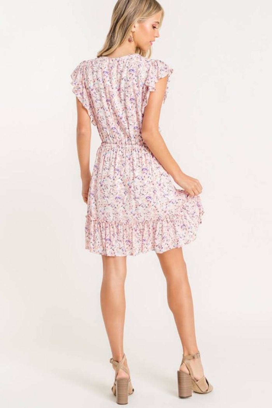 Lush Floral Mix Dress - Front Full Image