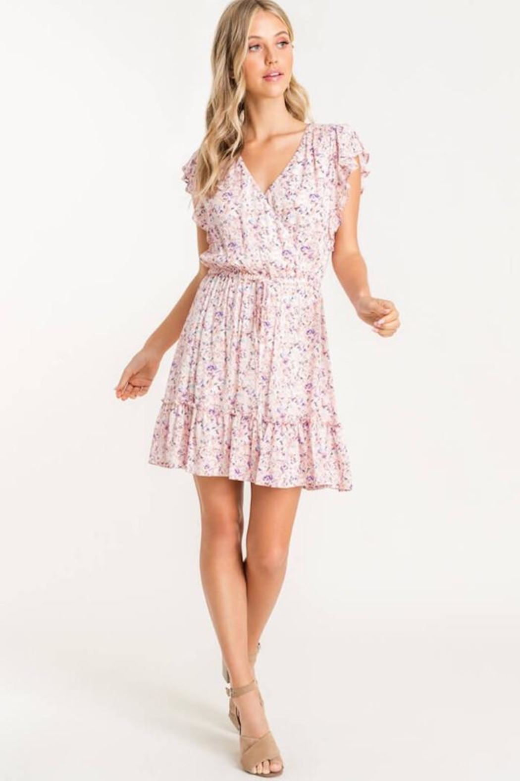 Lush Floral Mix Dress - Side Cropped Image