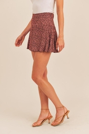 Lush Floral Print Berry Mini Skirt - Other