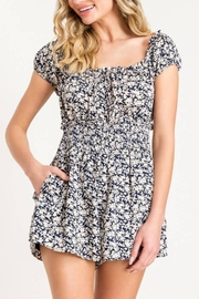 Lush Floral Print Romper - Front cropped