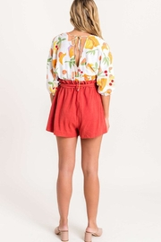 Lush Floral Surplice Blouse - Side cropped