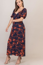 Lush Floral Sweetheart Dress - Front full body