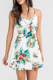Lush Floral Tie Dress - Product Mini Image