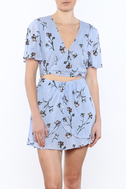 Lush Floral Wrap Top - Product Mini Image