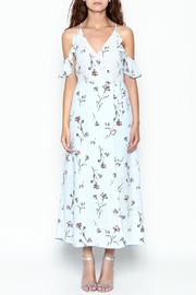 Lush Floral Woven Maxi Dress - Front full body