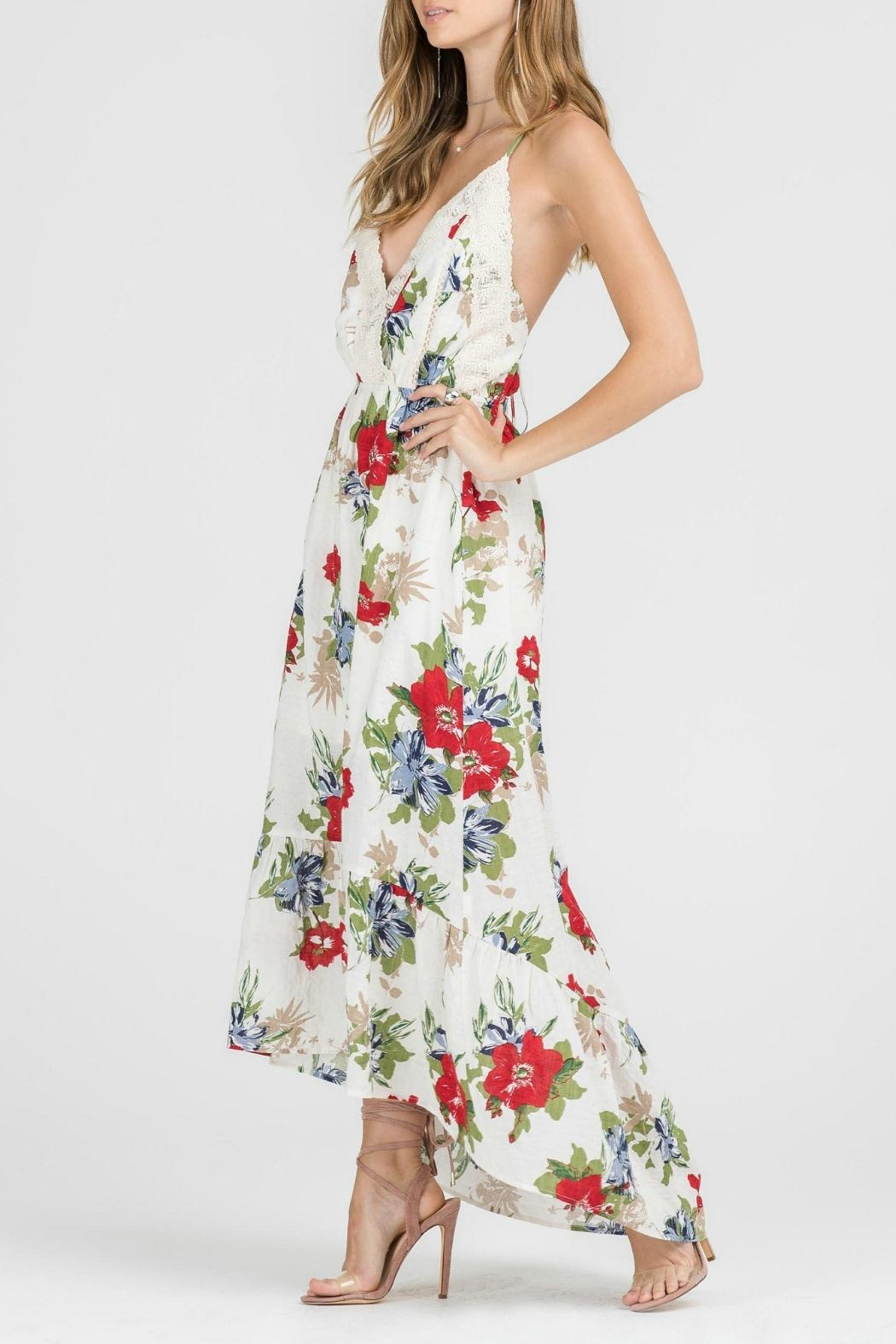 Lush Floral Woven Maxi - Front Full Image