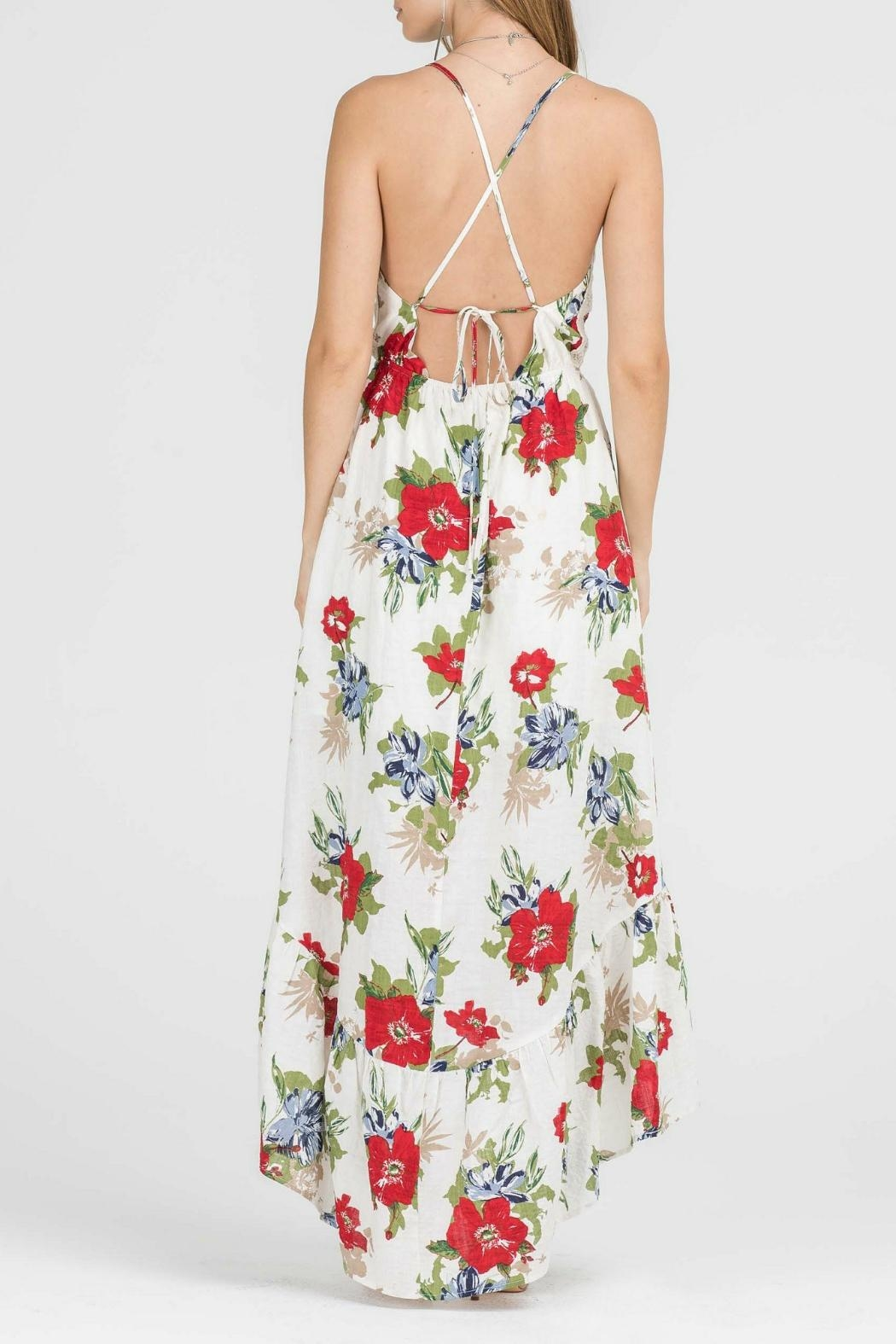 Lush Floral Woven Maxi - Side Cropped Image
