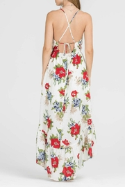Lush Floral Woven Maxi - Side cropped