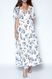 Lush Floral Wrap Dress - Product Mini Image