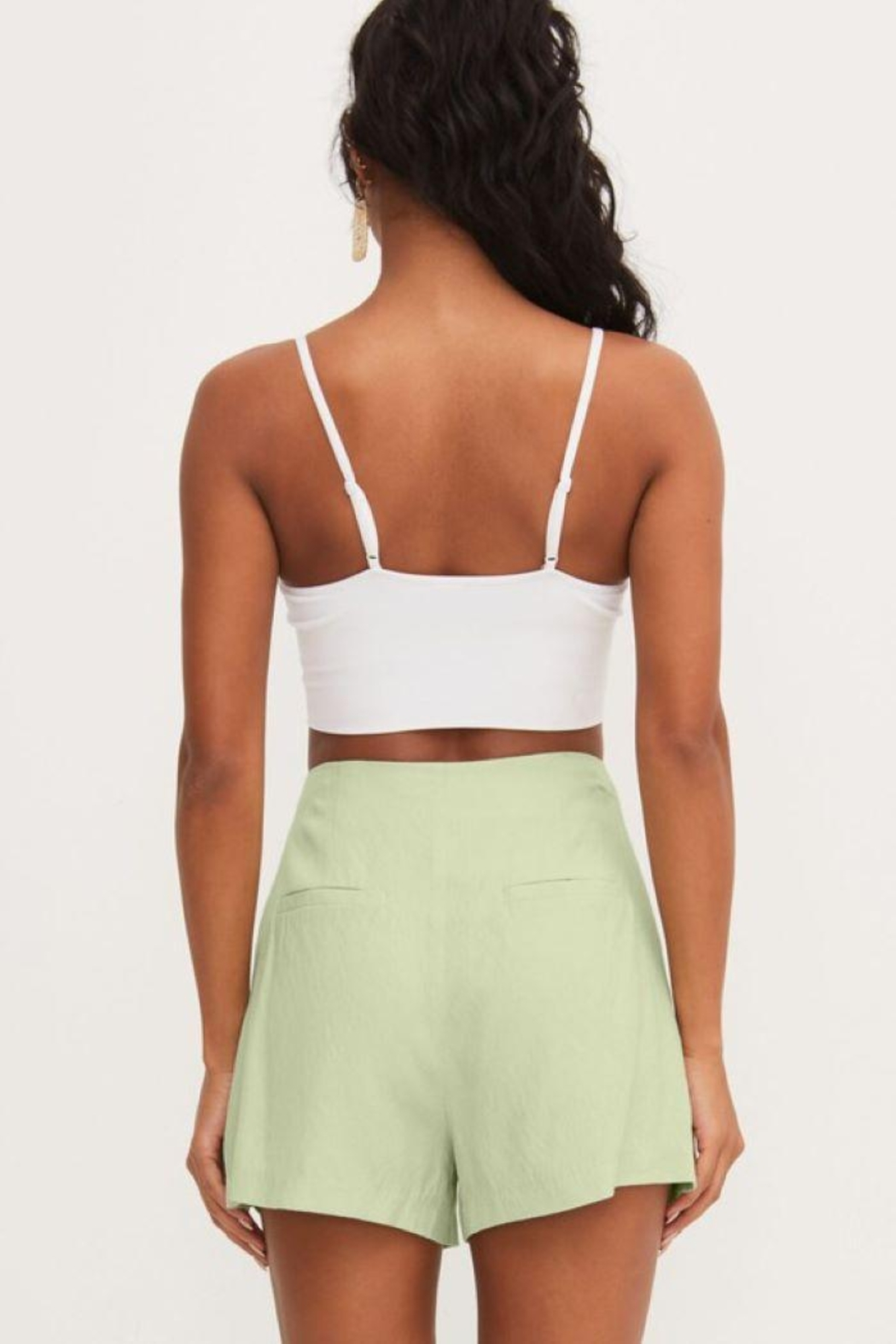 Lush Front Pleat Shorts - Side Cropped Image