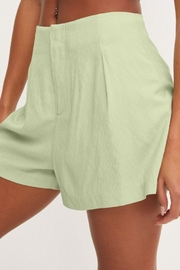 Lush Front Pleat Shorts - Back cropped