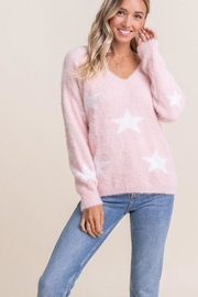 Lush Fuzzy Star Sweater - Front cropped