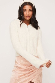 Lush Fuzzy Zip-Up Sweater - Product Mini Image