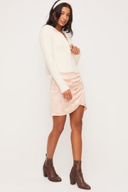 Lush Fuzzy Zip-Up Sweater - Back cropped