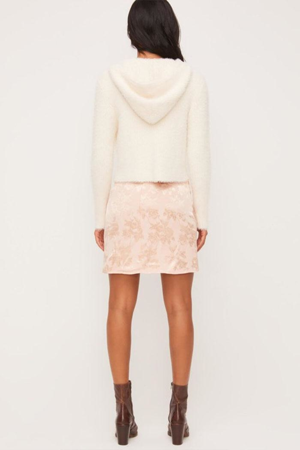 Lush Fuzzy Zip-Up Sweater - Side Cropped Image