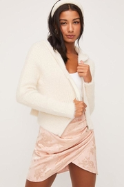 Lush Fuzzy Zip-Up Sweater - Front full body