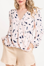 Lush Geo Print Blouse - Product Mini Image
