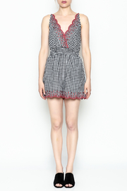 Lush Gingham Romper - Front full body