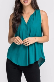 Lush Green V Neck Tank - Product Mini Image