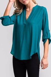 Lush Lovely Teal Blouse - Product Mini Image