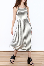 Lush Grey Stripe Maxi Dress - Product Mini Image