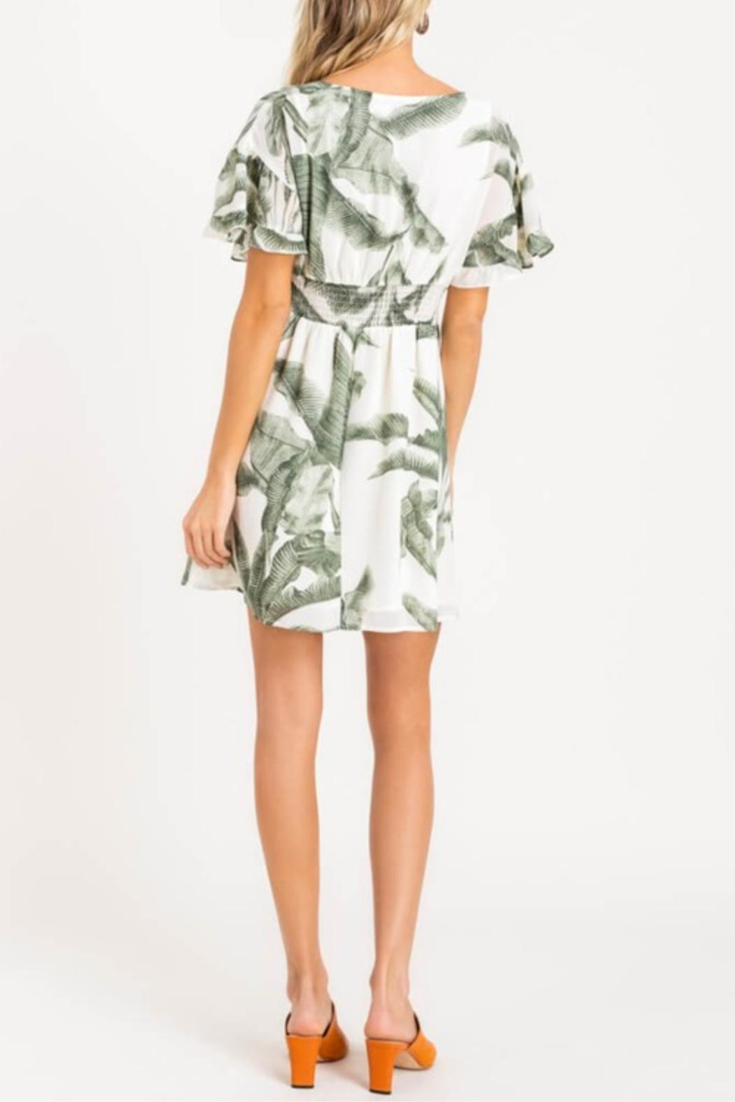 Lush Heart Of Palm Dress - Side Cropped Image