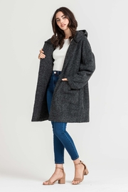 Lush Hooded Charcoal Jacket - Front full body