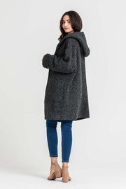 Lush Hooded Charcoal Jacket - Side cropped