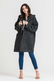 Lush Hooded Charcoal Jacket - Product Mini Image