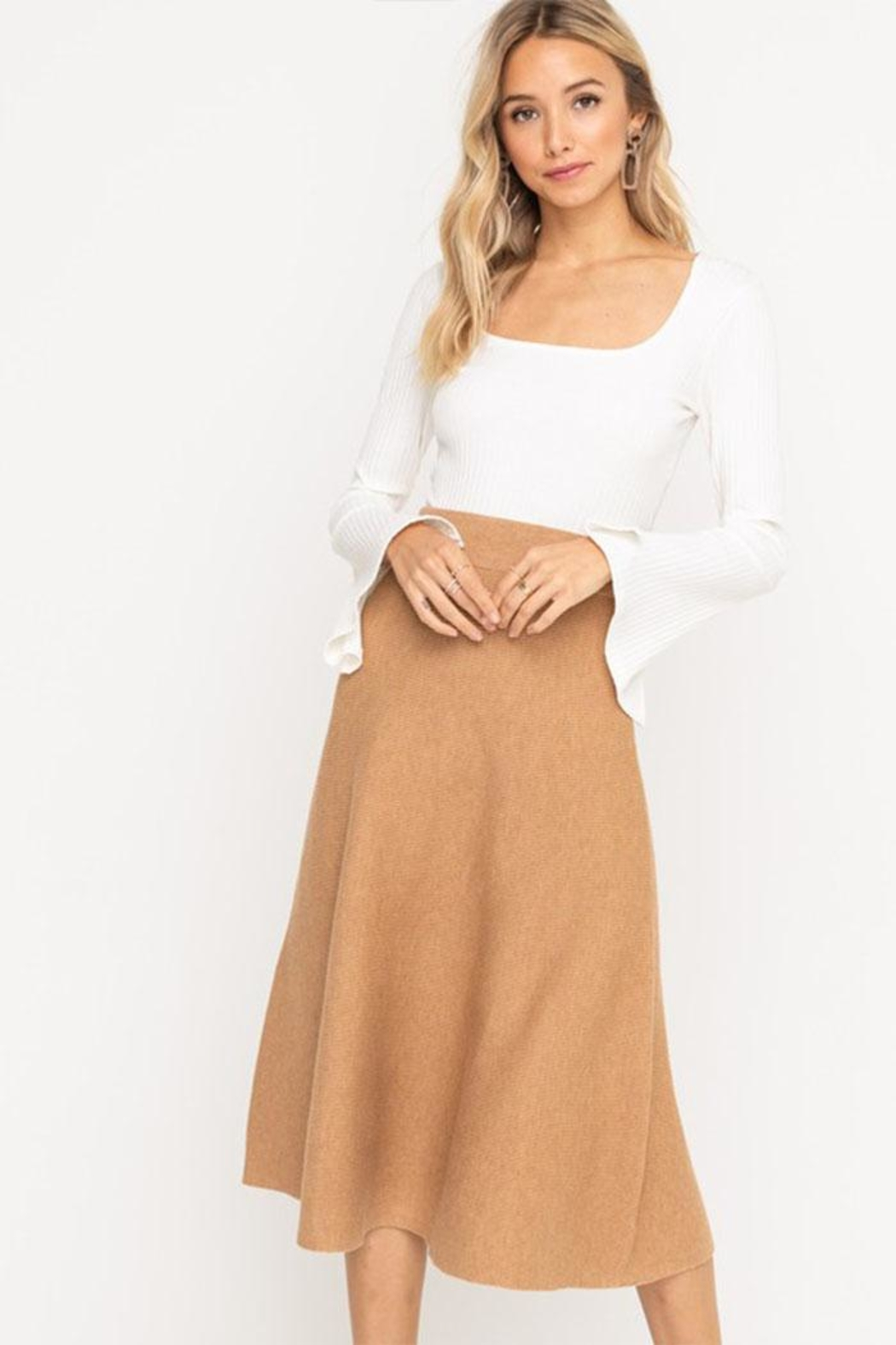 Lush Knit Midi Skirt From New York By Dor L Dor Shoptiques