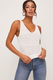 Lush Knit V-Neck Tank - Front cropped
