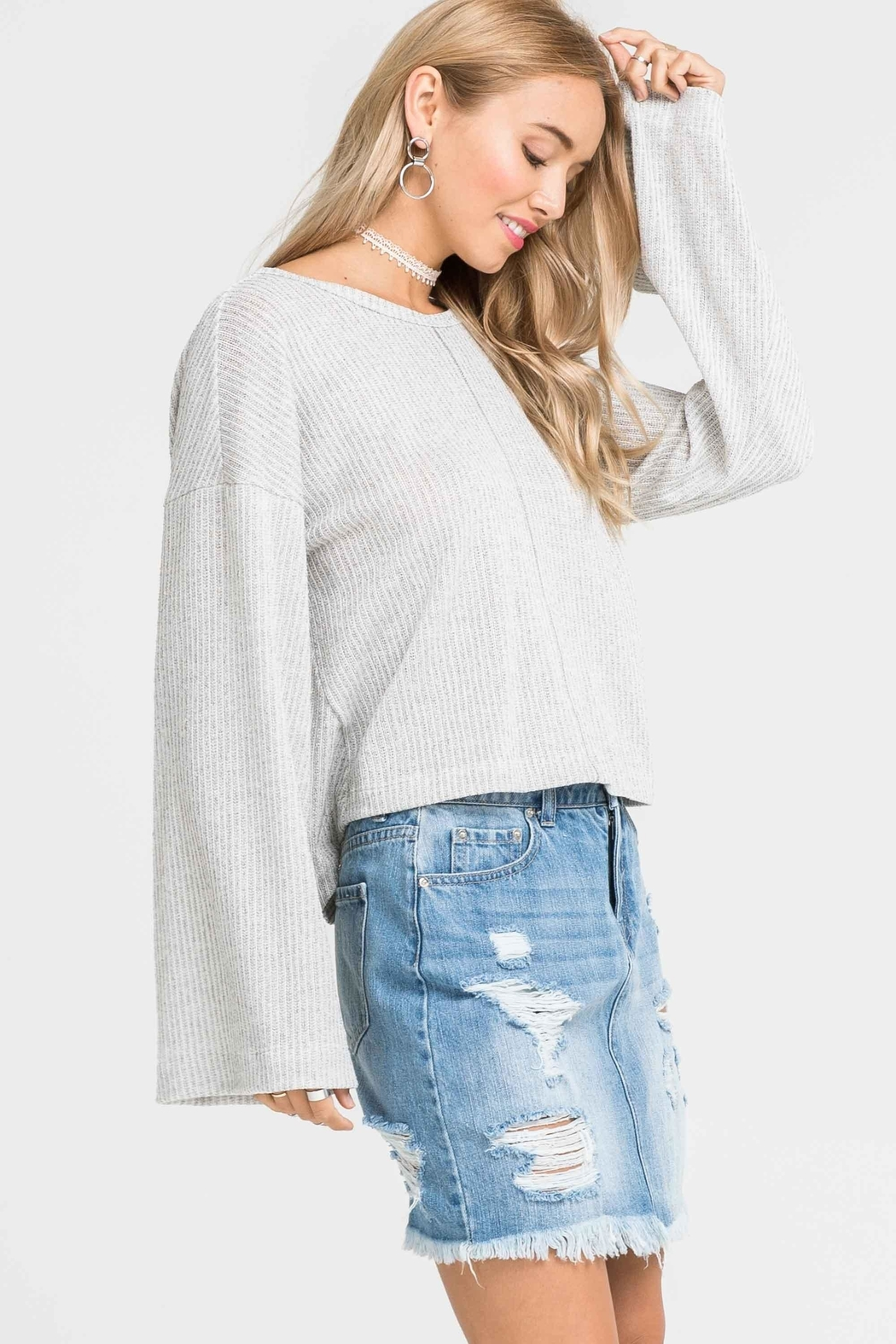 Lush Knot Back Sweater - Front Cropped Image