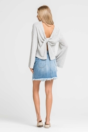 Lush Knot Back Sweater - Front full body