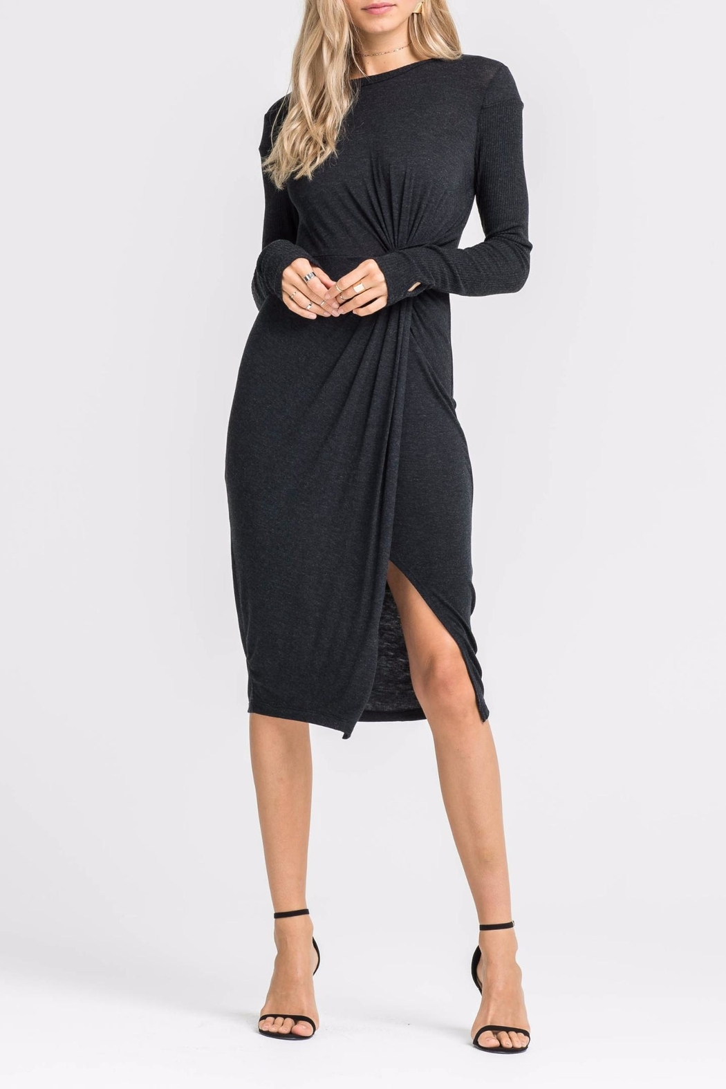 Lush Knotted Front Dress - Front Cropped Image