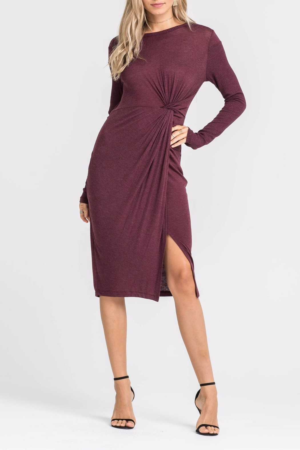Lush Knotted Front Dress - Main Image