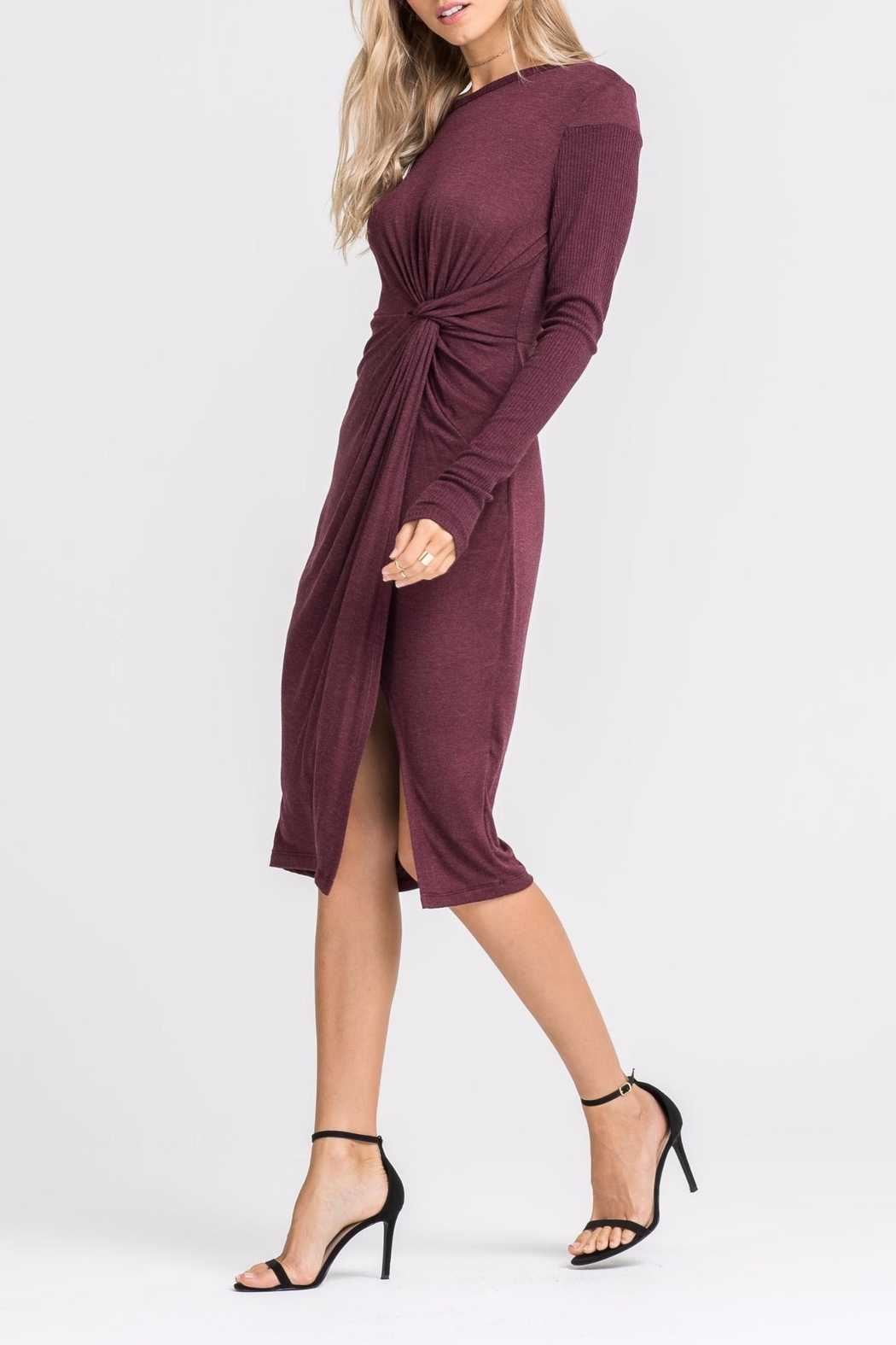 Lush Knotted Front Dress - Front Full Image