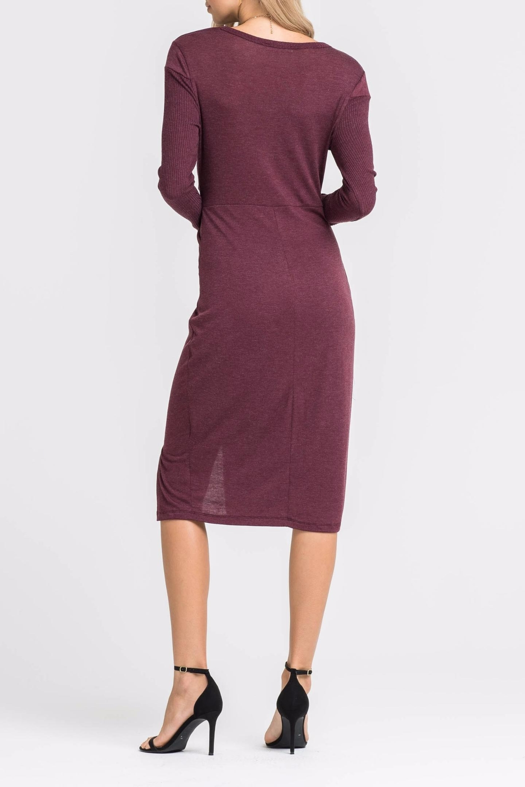 Lush Knotted Front Dress - Side Cropped Image