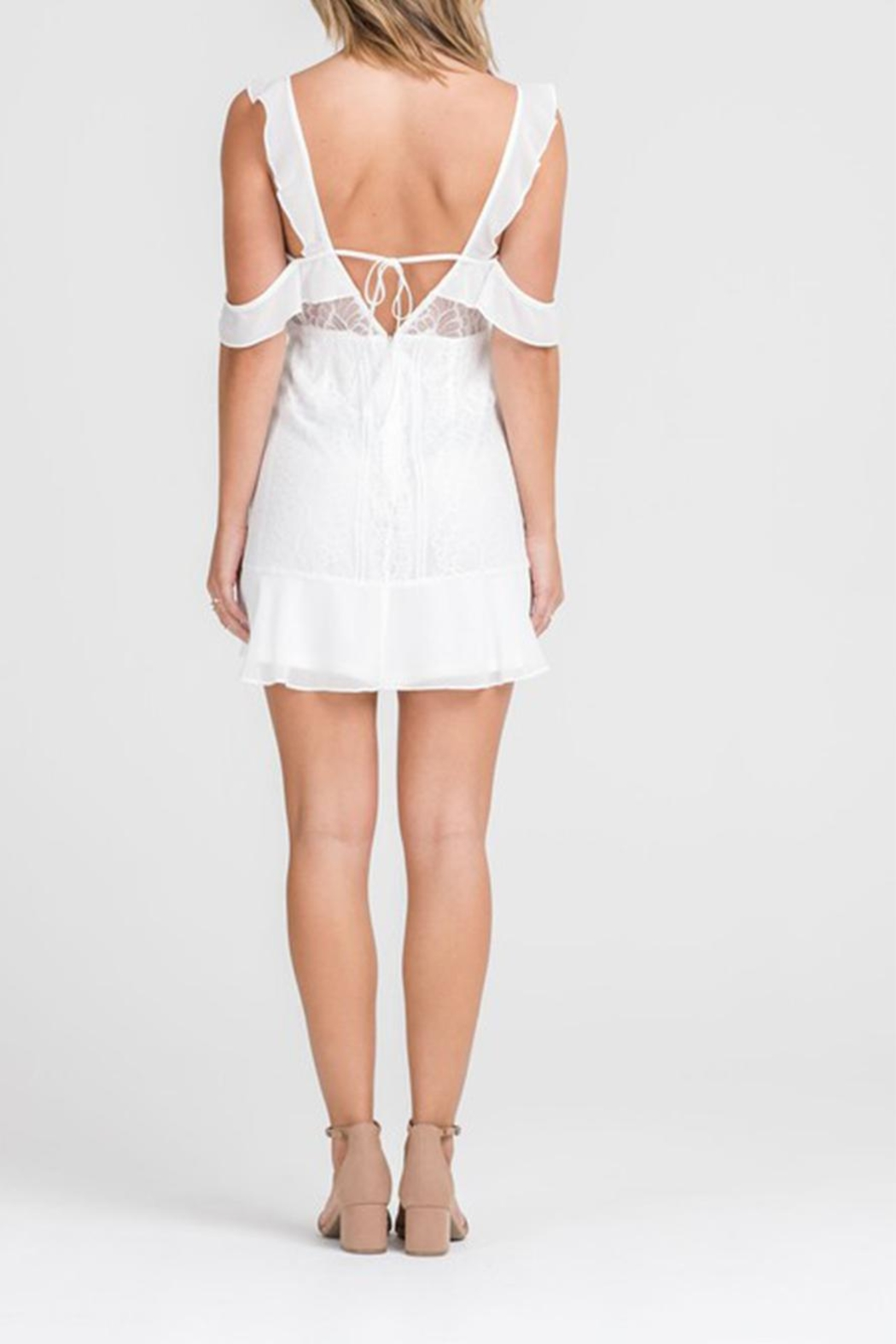 Lush Lace Button-Down Dress - Side Cropped Image