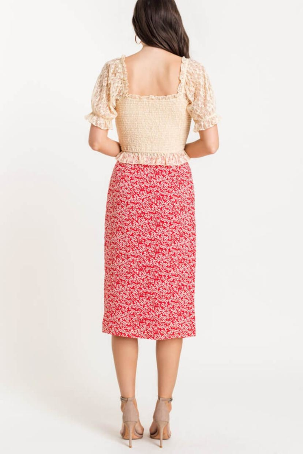 Lush Lace Smocked Top - Front Full Image
