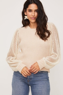 Shoptiques Product: Lace Sweater Top
