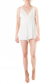 Lush Lace Trimmed Romper - Product Mini Image