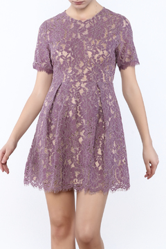 Shoptiques Product: Lavender Lace Dress