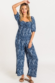 Lush Leaf Print Jumpsuit - Product Mini Image