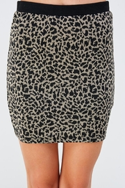 Lush Leopard Mini Skirt - Product Mini Image
