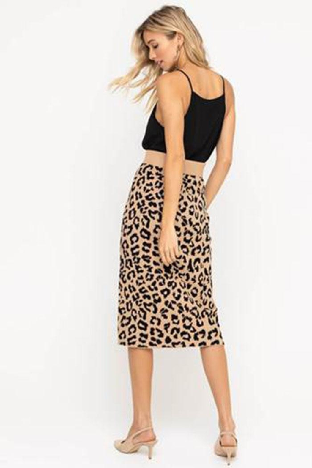 Lush Leopard Sweater Skirt - Side Cropped Image
