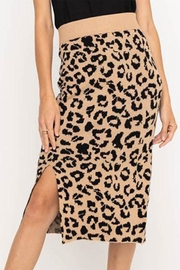 Lush Leopard Sweater Skirt - Product Mini Image